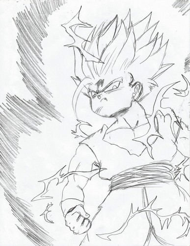 Dragon Ball Z wallpaper possibly containing a sporozoo, sporozoan titled My Dragon Ball Drawings 8)