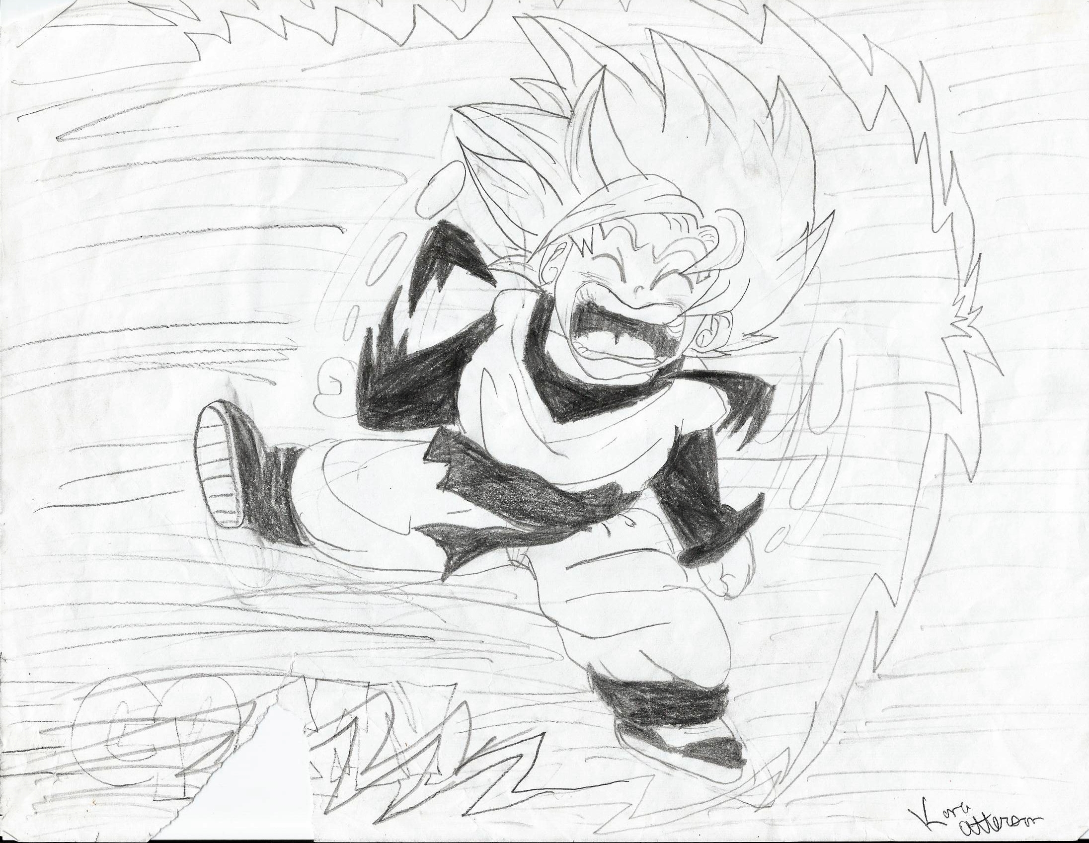 Drawing Pictures of Dragon Ball z Characters z my Dragon Ball Drawings