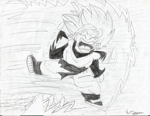 Dragon Ball Z karatasi la kupamba ukuta titled My Dragon Ball Drawings 8)