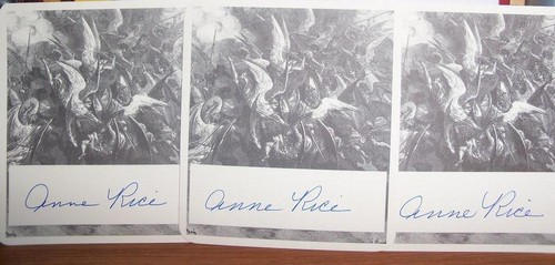 My autographed Anne Rice bookplates