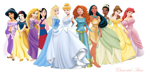 NEW Merida with the Disney Princesses - disney-