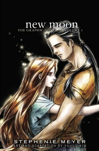 Twilight la saga wallpaper containing a portrait entitled New Moon: The Graphic Novel, Vol. 1 cover