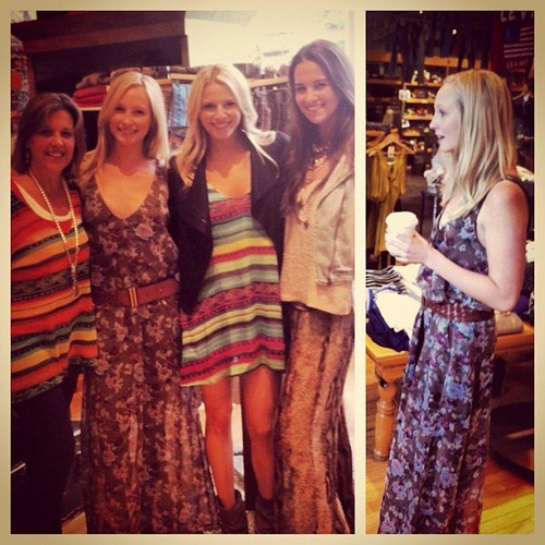 """New pic of Candice with the girls of """"Show Me Your Mumu""""."""