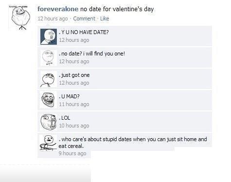 No data on Valentines giorno
