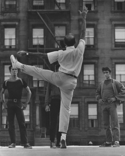 On the set of West Side Story