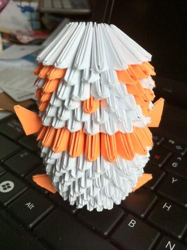 Orange Origami Panda