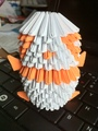 Orange Origami Panda - origami fan art