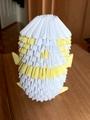 Yellow Origami Panda
