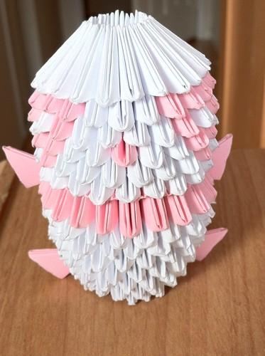 ピンク Origami Panda