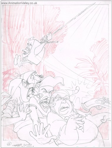 Original Pagemaster Production drawing