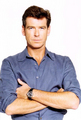 PIERCE BROSNAN WEAR GRAY SHIRT - pierce-brosnan photo