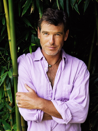 PIERCE BROSNAN WEAR PURPLE camicia