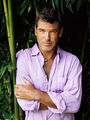 PIERCE BROSNAN WEAR PURPLE SHIRT - pierce-brosnan photo