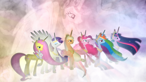 my little pony friendship is magic wallpaper called PONIES!