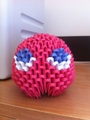 3D Origami Pacman Ghost -Blinky - origami fan art