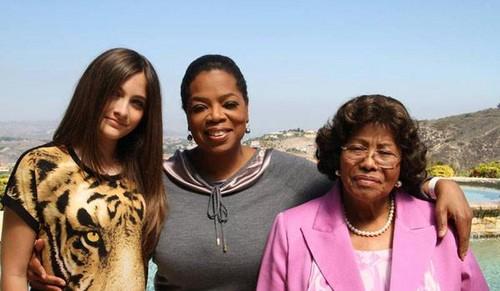 Paris Jackson, Oprah Winfrey and Katherine Jackson NEW 2012