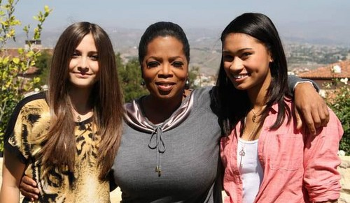 Paris Jackson, Oprah Winfrey and Paris's friend Michaela NEW 2012