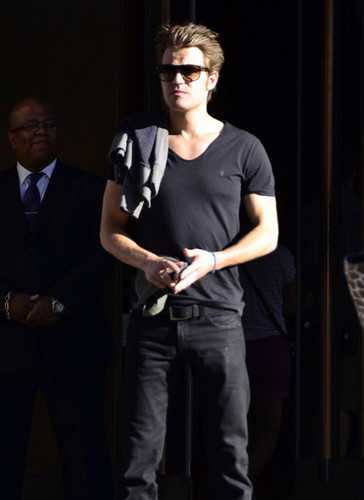 Paul Wesley and Torrey DeVitto Go To a Broadway Show