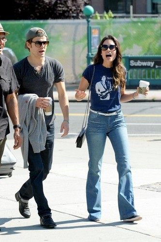 Paul Wesley and Torrey DeVitto