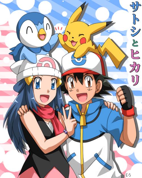 Pokemon Ash and Dawn Love