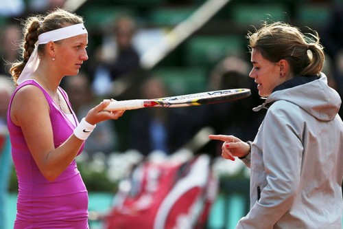 Petra Kvitova belly French Open