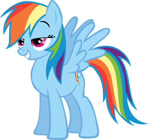 Pleased Rainbow Dash