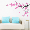 plum bunga Branches dinding Sticker