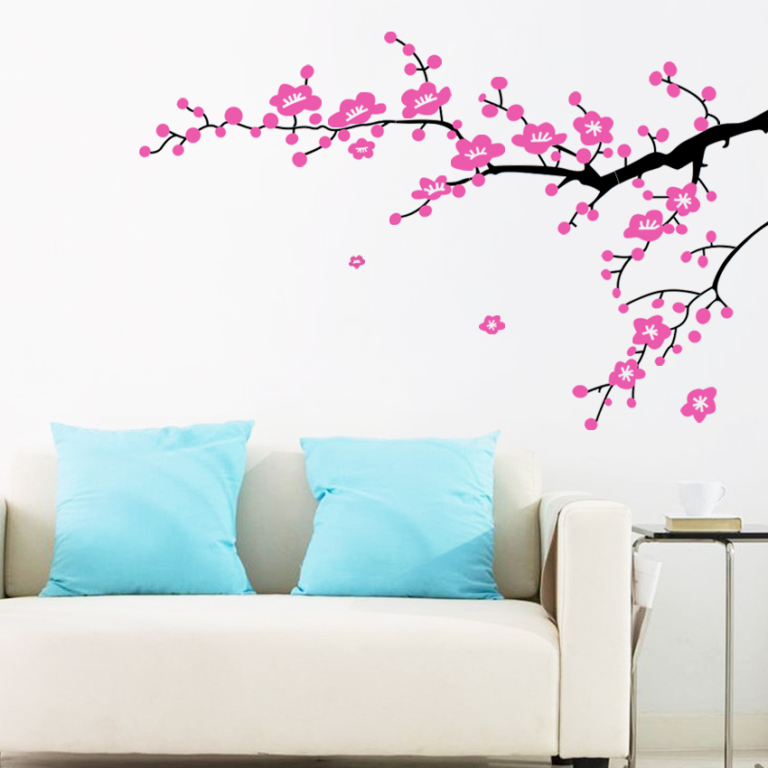 home decorating images plum flower branches wall sticker hd