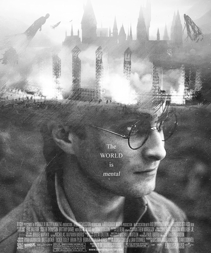 Harry Potter And The Deathly Hallows Part 2 karatasi la kupamba ukuta containing a mitaani, mtaa entitled Poster Remake