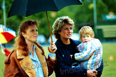 Princess Diana and her Sons 바탕화면 possibly containing a parasol entitled Princess Diana, Prince Harry and Duchess Sarah