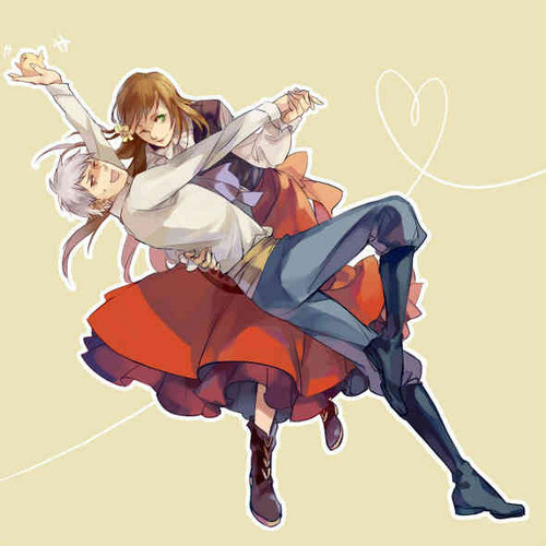 Hetalia wallpaper entitled PruHun Dance