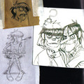 Random sketchings by Jamie Hewlett