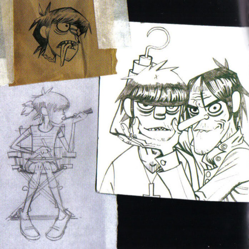 Болталка sketchings by Jamie Hewlett