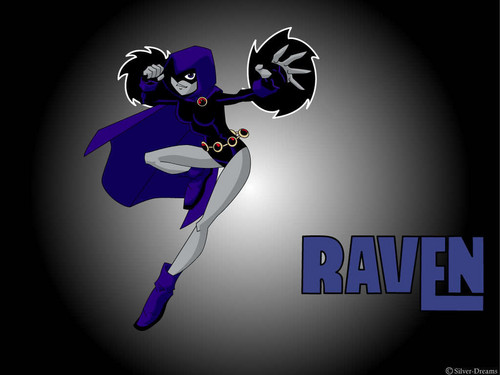 Teen Titans vs. Young Justice fond d'écran entitled Raven