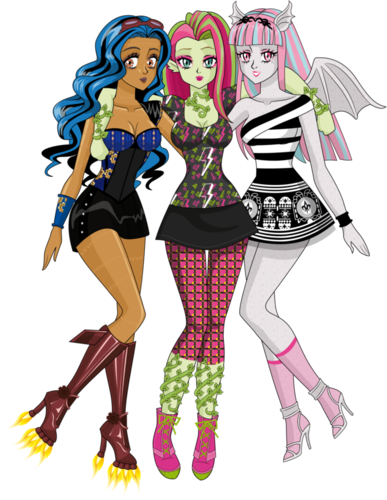Rebecca Venus & Rochelle - monster-high Fan Art