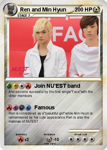 Ren and Min Hyun pokecard!!!!!!!!!!