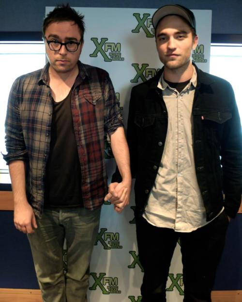 Rob Holds Hands With XFM Music Radio Host (London)