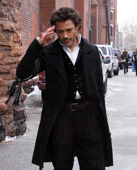 Robert as Holmes