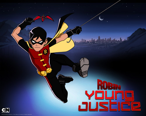 Teen Titans vs. Young Justice fond d'écran containing animé titled Robin