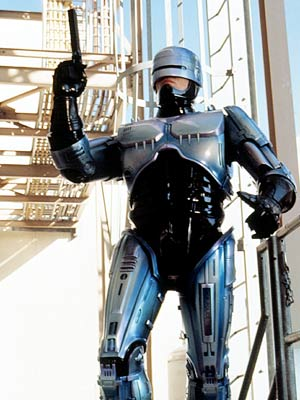 Robocop karatasi la kupamba ukuta with a breastplate called Robocop