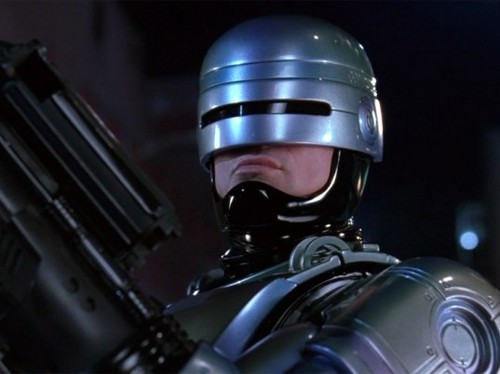 Robocop wallpaper with a rifleman, a green beret, and a navy seal titled Robocop