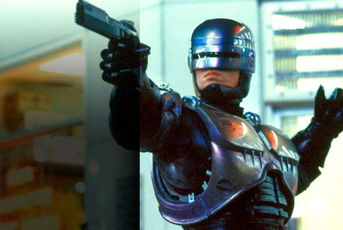 Robocop wallpaper with a breastplate and an armor plate titled Robocop