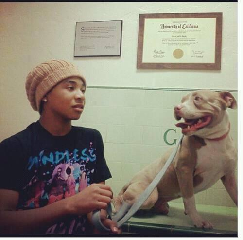 Roc and his dog.
