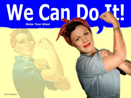 Rosie The Riveter / rosa, -de-rosa