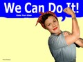 Rosie The Riveter / Pink - pink wallpaper