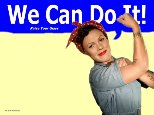 Rosie The Riveter / rosado, rosa