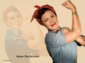 Rosie The Riveter a.k.a. P!nk - pink wallpaper