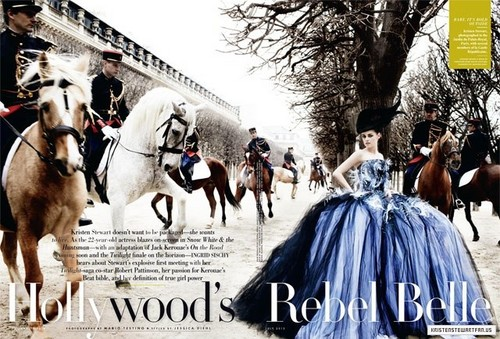 Scan of Kristen in 'Vanity Fair' magazine - July 2012.