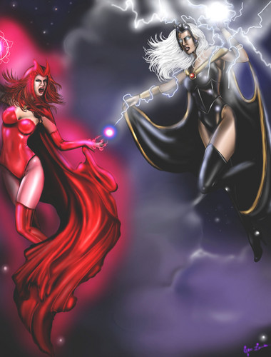Scarlet Witch vs Storm
