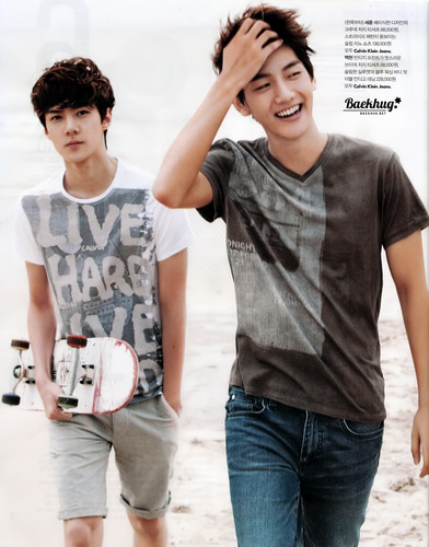 Se Hun, Baek Hyun & KAI for Vogue Girl